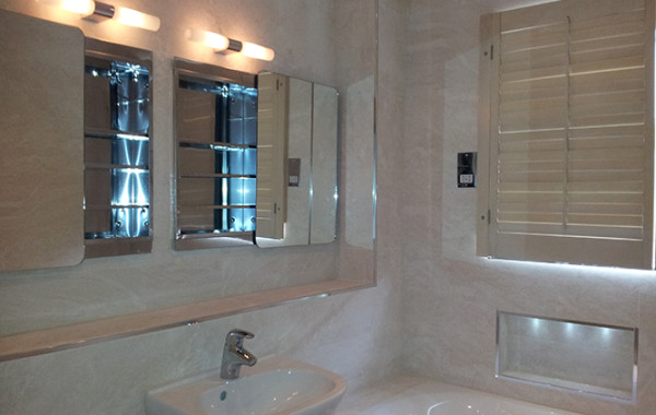 Cream Bathroom Shutters